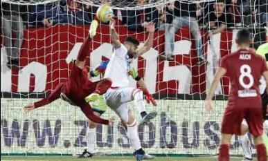 Tulli fa un gol alla Ronaldo e il Trapani vince il derby col Catania