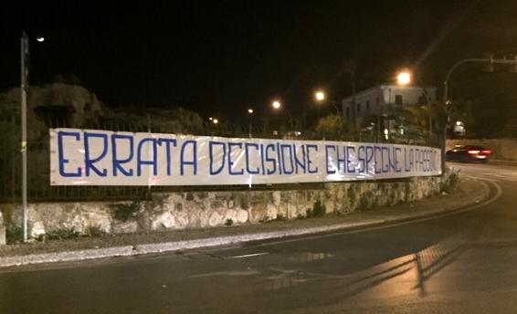 """Stadio out a Siracusa e gli ultrà scrivono:""""Errata decisione che spegne la passione"""""""