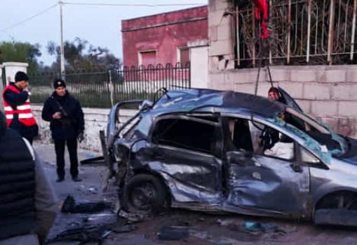 Incidente stradale nel Brindisino, due auto coinvolte e tre ragazzi morti