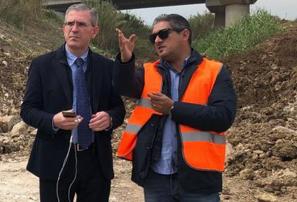 Infrastrutture, Falcone torna nei cantieri siracusani delle opere incompiute