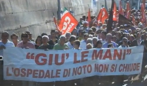 Ospedale di Noto, a Palermo si apre uno spiraglio: è un fatto temporaneo
