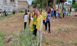 Gli studenti del 'Quasimodo' di Floridia ripuliscono un'area a verde