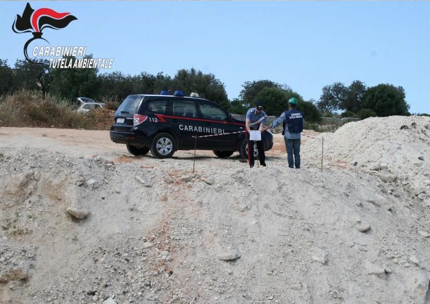 Sequestrata a Comiso una discarica di 3000 metri quadri di inerti