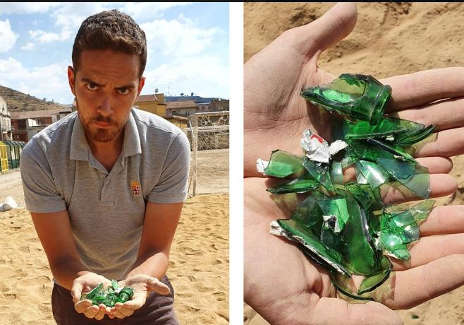 Trovati cocci di vetro in un campo di beach-soccer a Valguarnera Caropepe