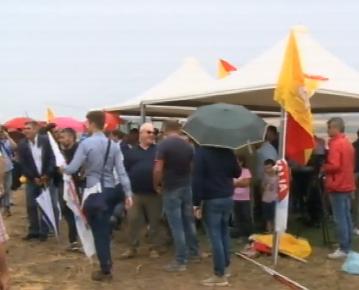 Agricoltori protestano a Caltanissetta contro impianto del biometano