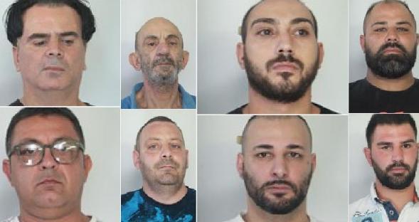 Catania, la squadra mobile esegue otto misure di custodia cautelare