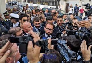 Il ministro della Giustizia  Bonafede inaugura il nuovo tribunale di Marsala