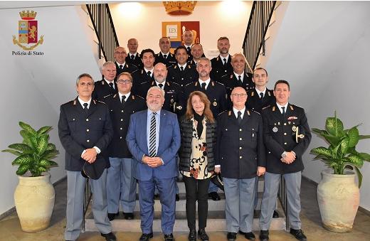 I nuovi vice ispettori vincitori di concorsi ricevuti dal Questore di Ragusa