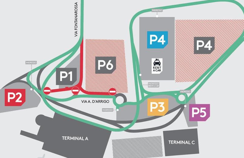 Catania, cambia viabilità all'aeroporto per  lavori al parcheggio numero 6
