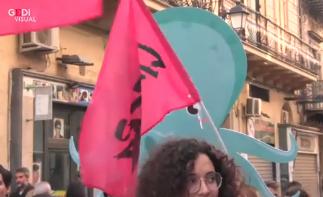 Flash mob di studenti a Palermo contro la mafia