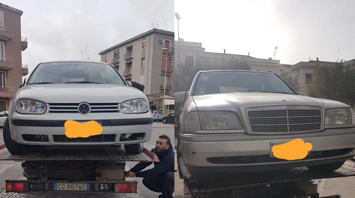 Siracusa, la Tekra toglie dalle strade veicoli abbandonati
