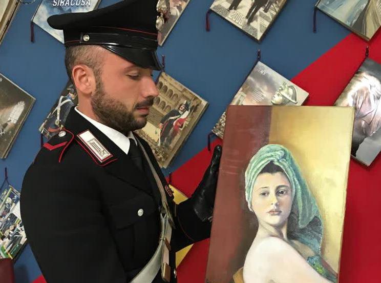 Rosolini, rubano un quadro esposto in una mostra: recuperato in 24 ore