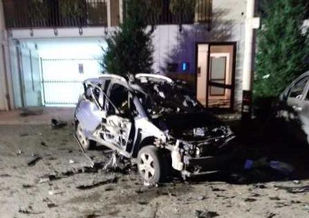 Bomba fatta esplodere a Ruvolo di Puglia sotto l'auto privata di un carabiniere