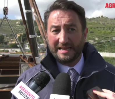 """Agrigento, il vice ministro Cancelleri: """"Il ponte Petrusa sarà ultimato in estate"""""""