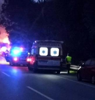 Furgone in fiamme sulla Messina - Palermo, autista salvo