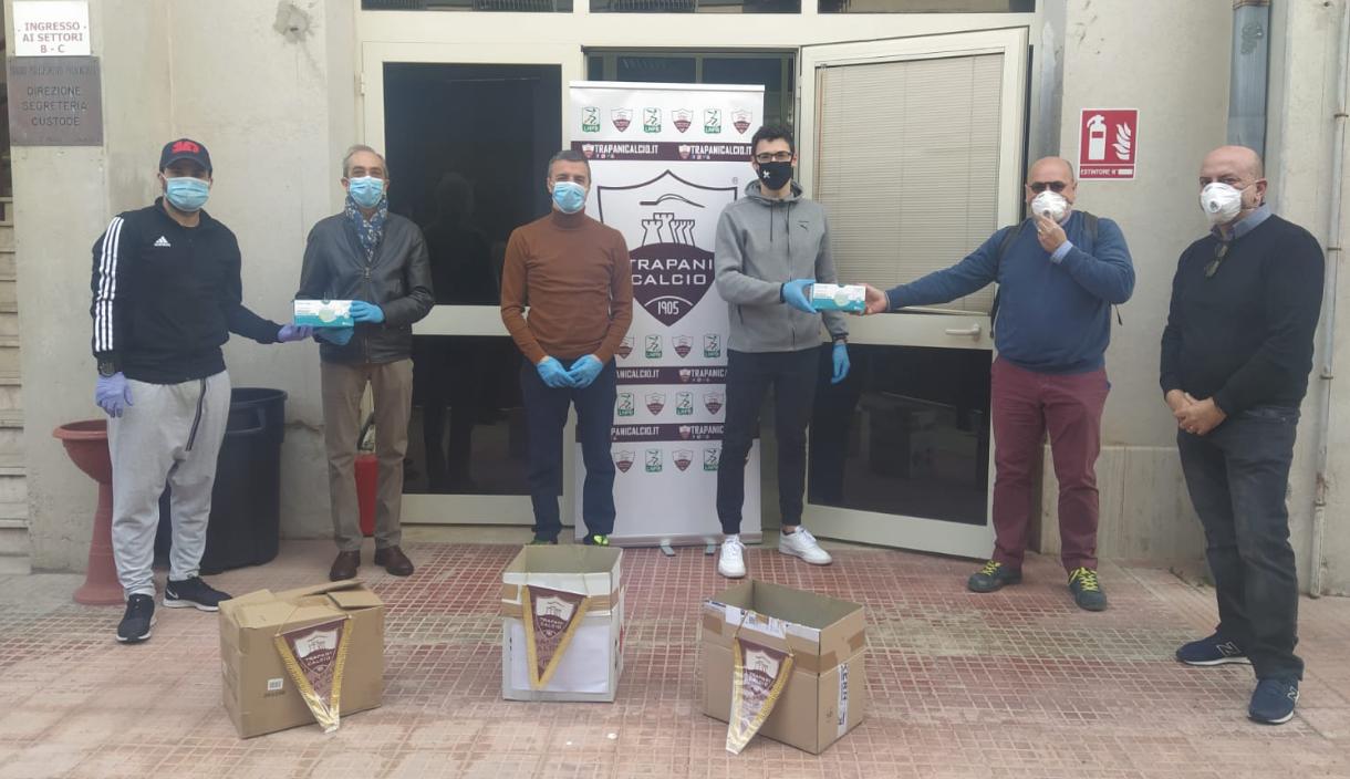 Il Trapani Calcio dona 3.000 mascherine alla Prefettura, ai medici e alla Protezione civile