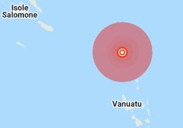 Scossa di terremoto di magnitudo 6.6 tra le Isole Salomone e Vanuatu