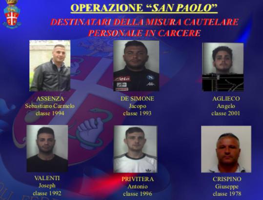 Disarticolato il clan Aparo, 19 arresti per mafia tra Floridia e Solarino