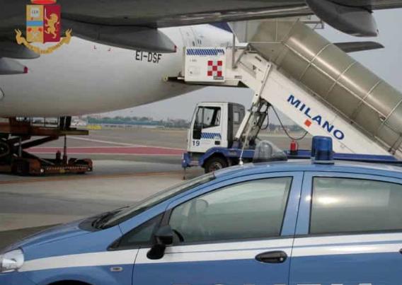 Nigeriano arrestato all'aeroporto di Milano: era ricercato per mafia e droga