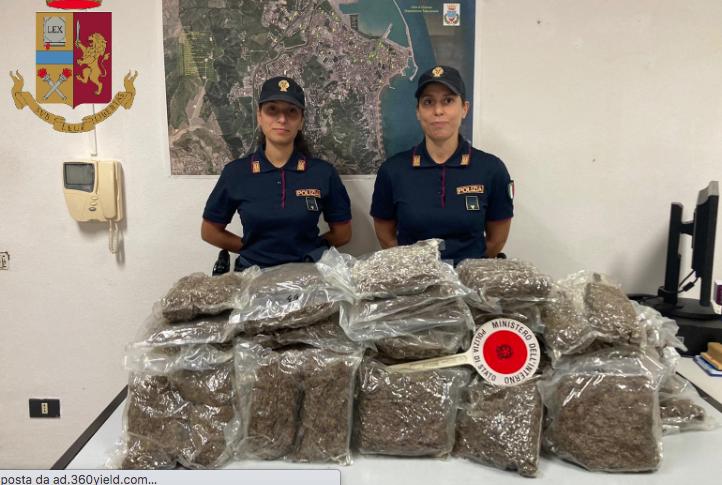 Sequestrati 20 chili di marijuana a Crotone in località Gabella