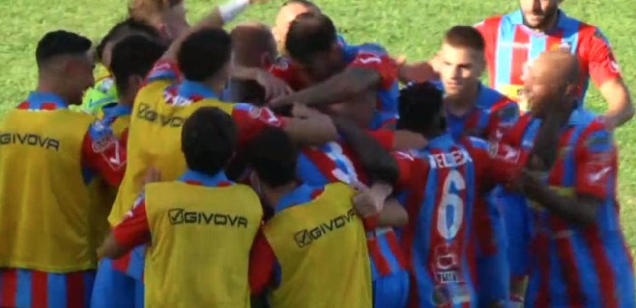 Colpaccio del Catania a Monopoli: il gol partita lo firma Silvestri al 52'