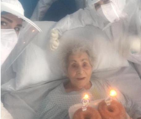 Caltanissetta, nonnina positiva al covid festeggia 94 anni in ospedale