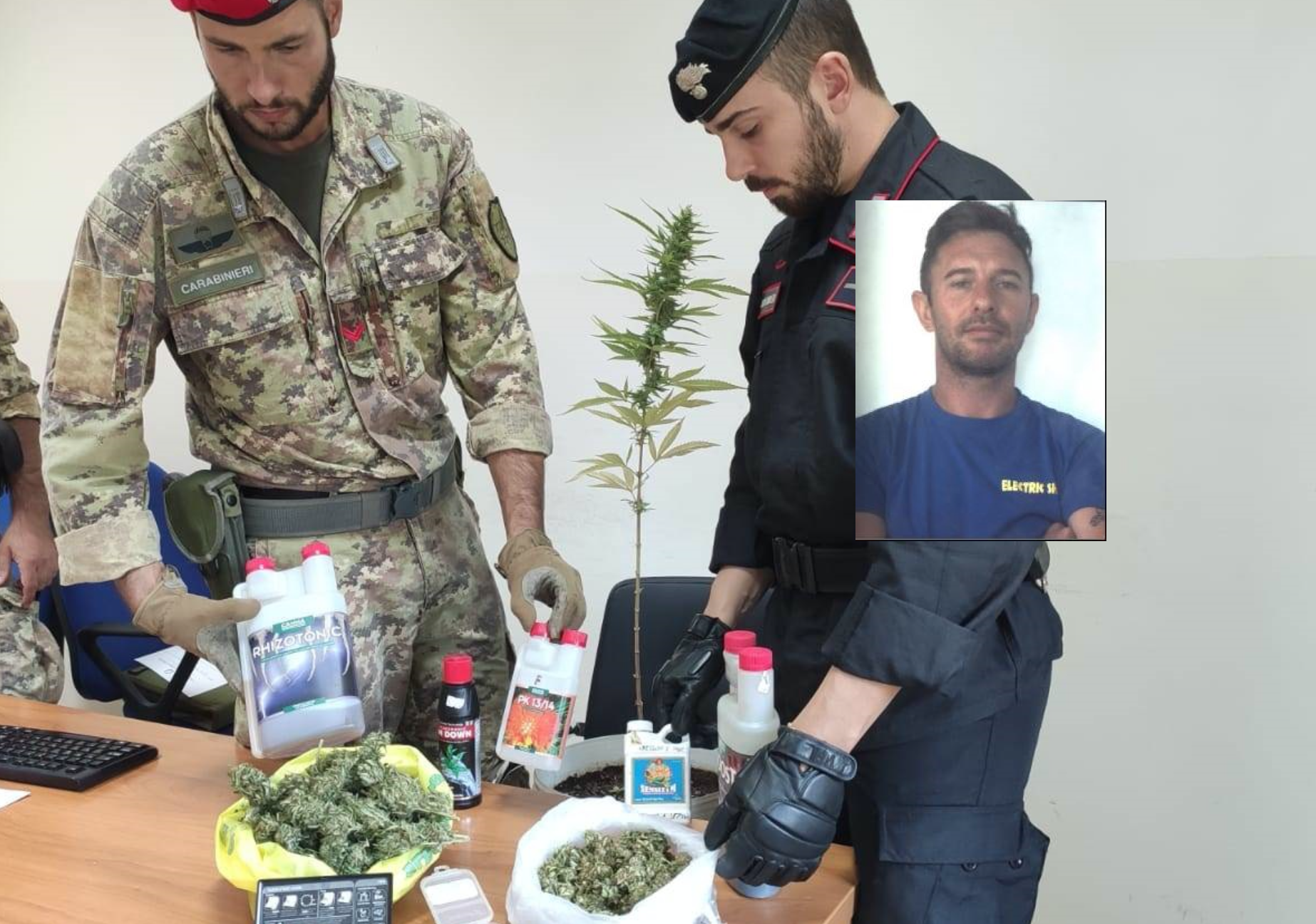 Carlentini, produceva marijuana e percepiva il 'reddito': 40 enne arrestato