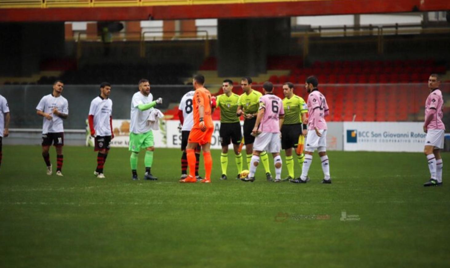 Brutto Palermo a Foggia, i rosanero incassano 2  gol nel primo tempo e  vanno ko