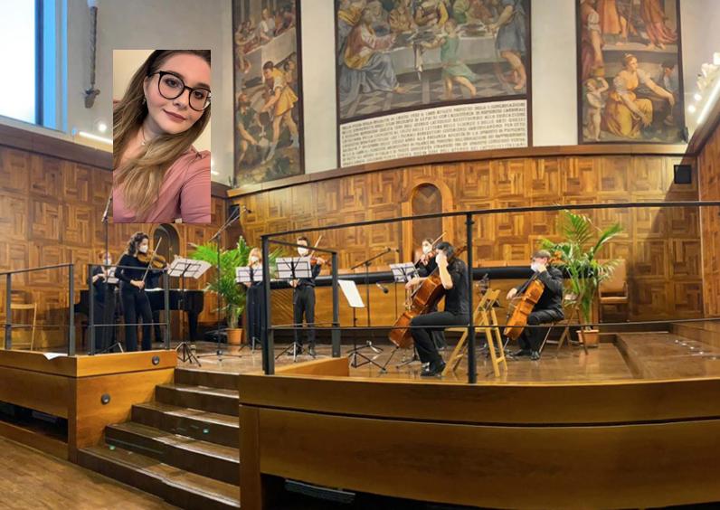 Studentessa di Floridia canta al concerto di Natale  della 'Cattolica' di Milano