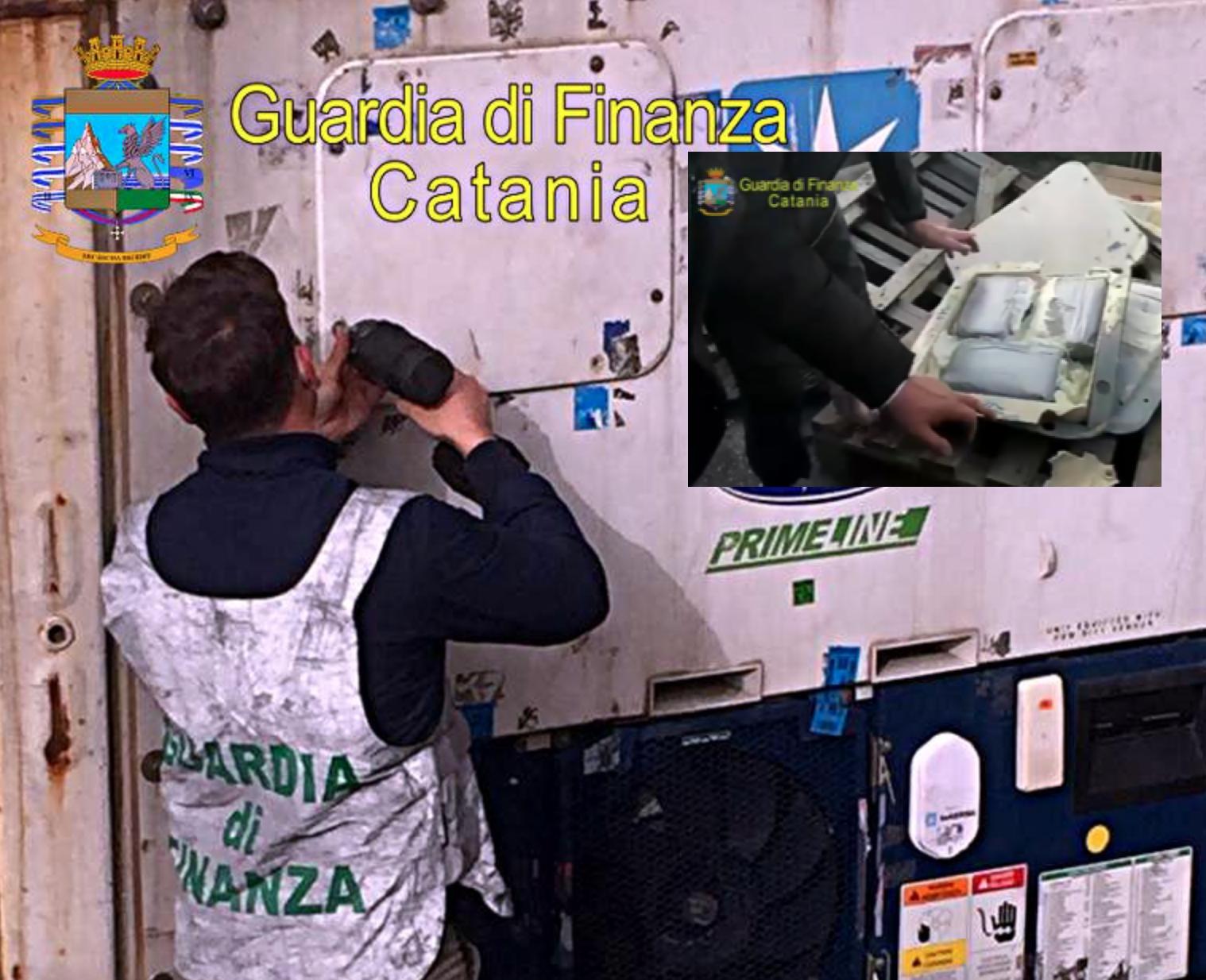 Cocaina insieme alla frutta esotica, sequestrati 7 chili al porto di Catania
