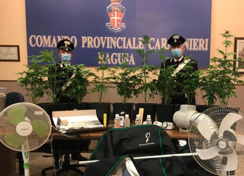 Coltivavano marijuana in centro storico: due arresti a Ragusa