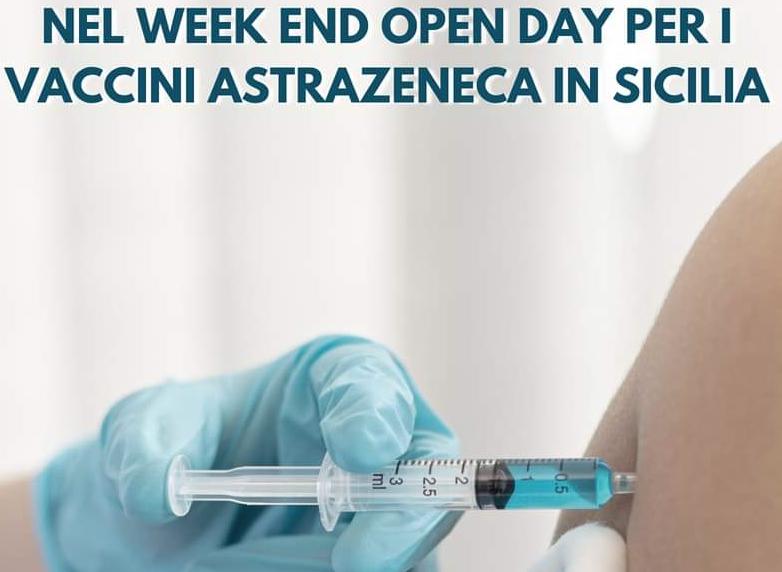 """Udi Con Sicilia: """"Sì all'Open day per i vaccini AstraZeneca nel week end"""""""