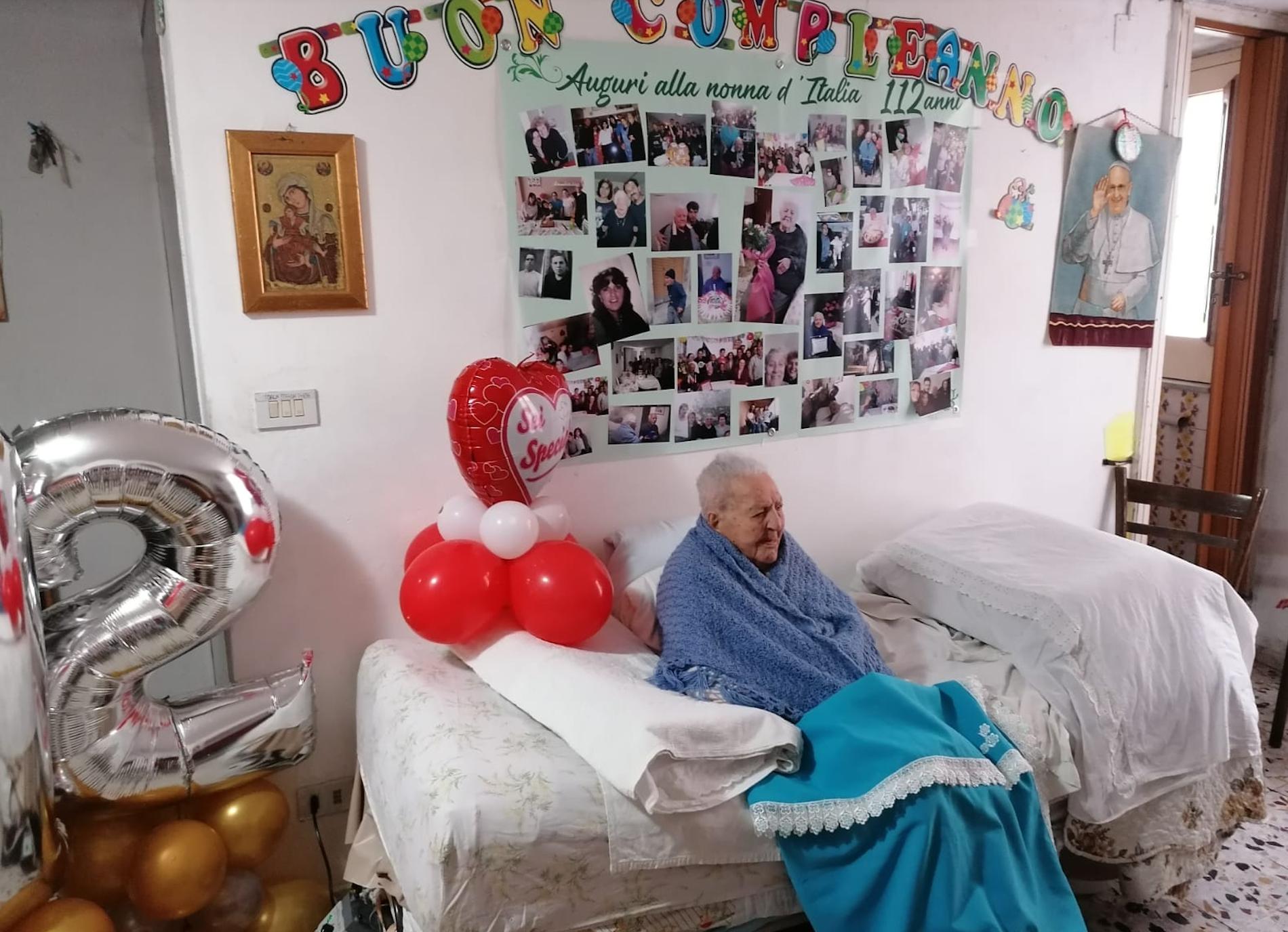 Piazza Armerina  festeggia la nonna più anziana d'Italia: 112 anni