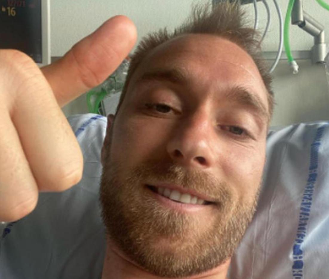 """Europei, post di Eriksen: """"Grazie per gli incoraggiamenti, mi sento ok"""""""