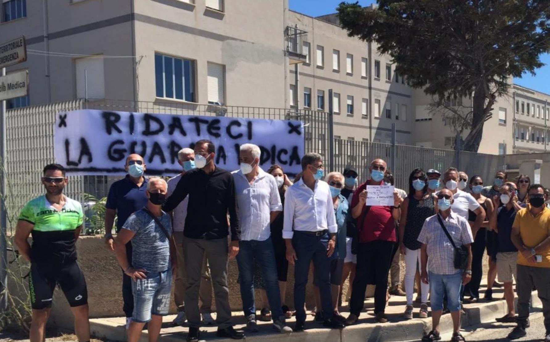 """Protesta a Pachino di Forza Italia: """"Ridateci la Guardia medica"""""""
