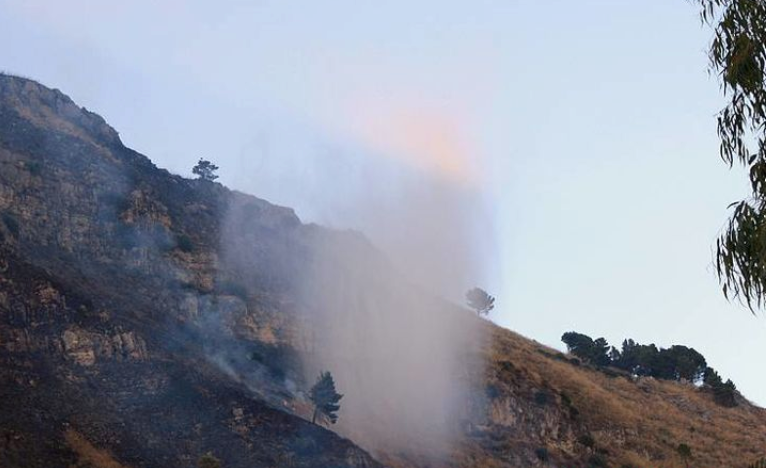 Appicca il fuoco in campagna, arrestato a Cammarata