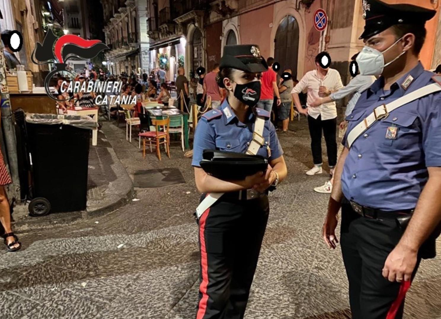Controlli anti covid congiunti a Catania: locali pubblici al setaccio