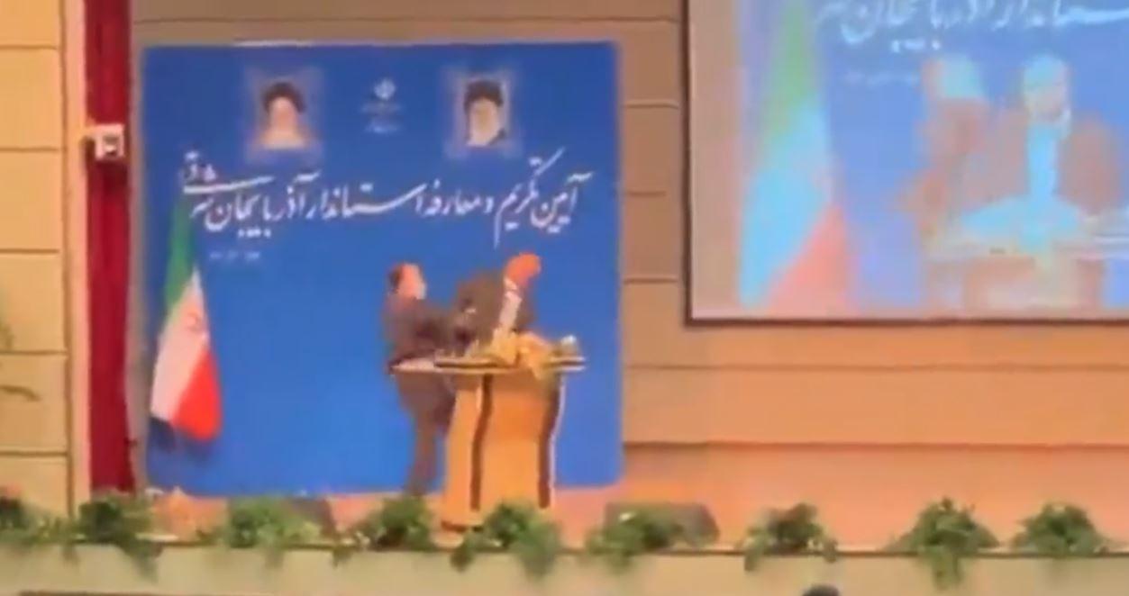 Iran, governatore schiaffeggiato all'insediamento: video diventa virale