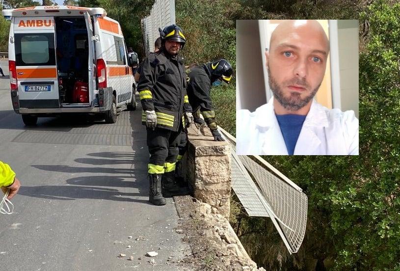 Con l'auto vola da un viadotto a Sciacca: morto un cinquantenne