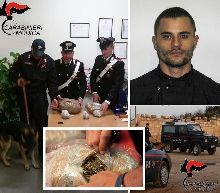 Scicli, arrestato per spaccio: sequestrati 2 chili di marijuana