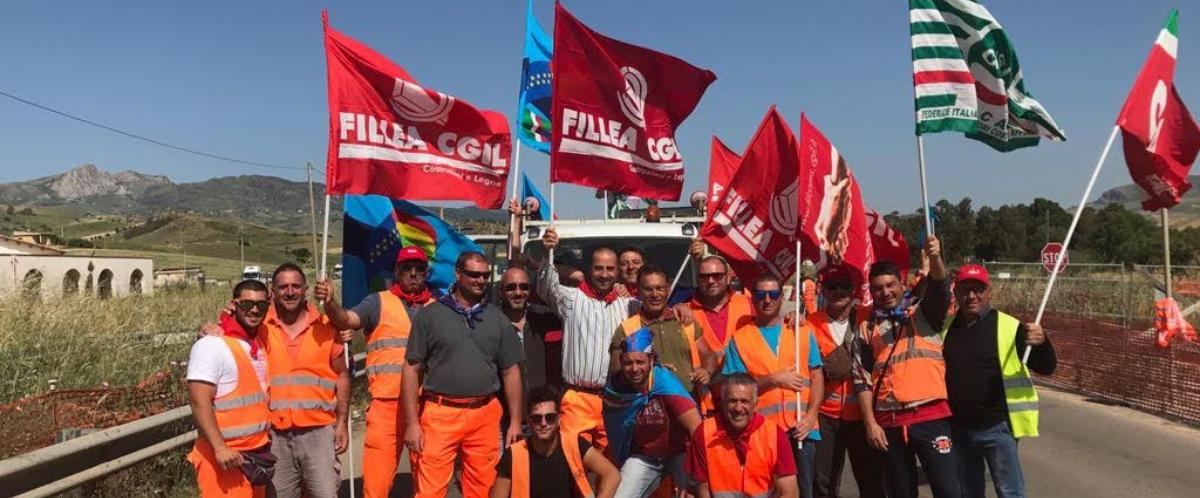 Lavoro, sciopero: si ferma un cantiere sulla Palermo-Agrigento