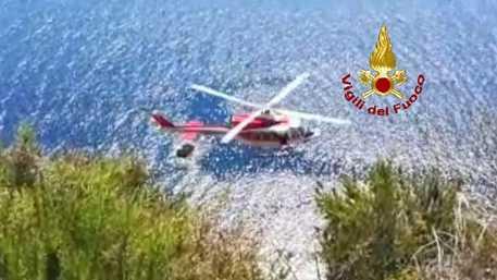 Precipita da scogliera, salvato da elicottero a Pantelleria