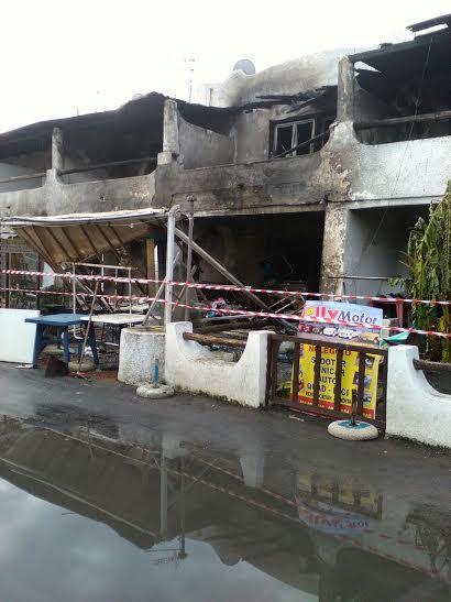 Vulcano, un incendio distrugge una boutique e un appartamento