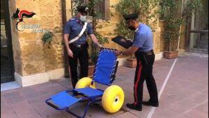 Agrigento, rubata e recuperata una sedia da mare riservata ai disabili