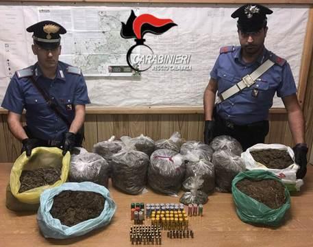 Sequestrati quindici chili di canapa indiana vicino Reggio Calabria