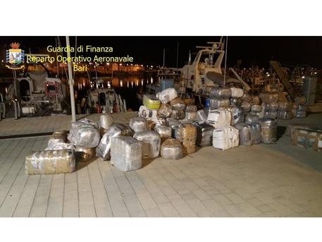 Oltre due tonnellate di droga dall'Albania, sequestro nel Foggiano