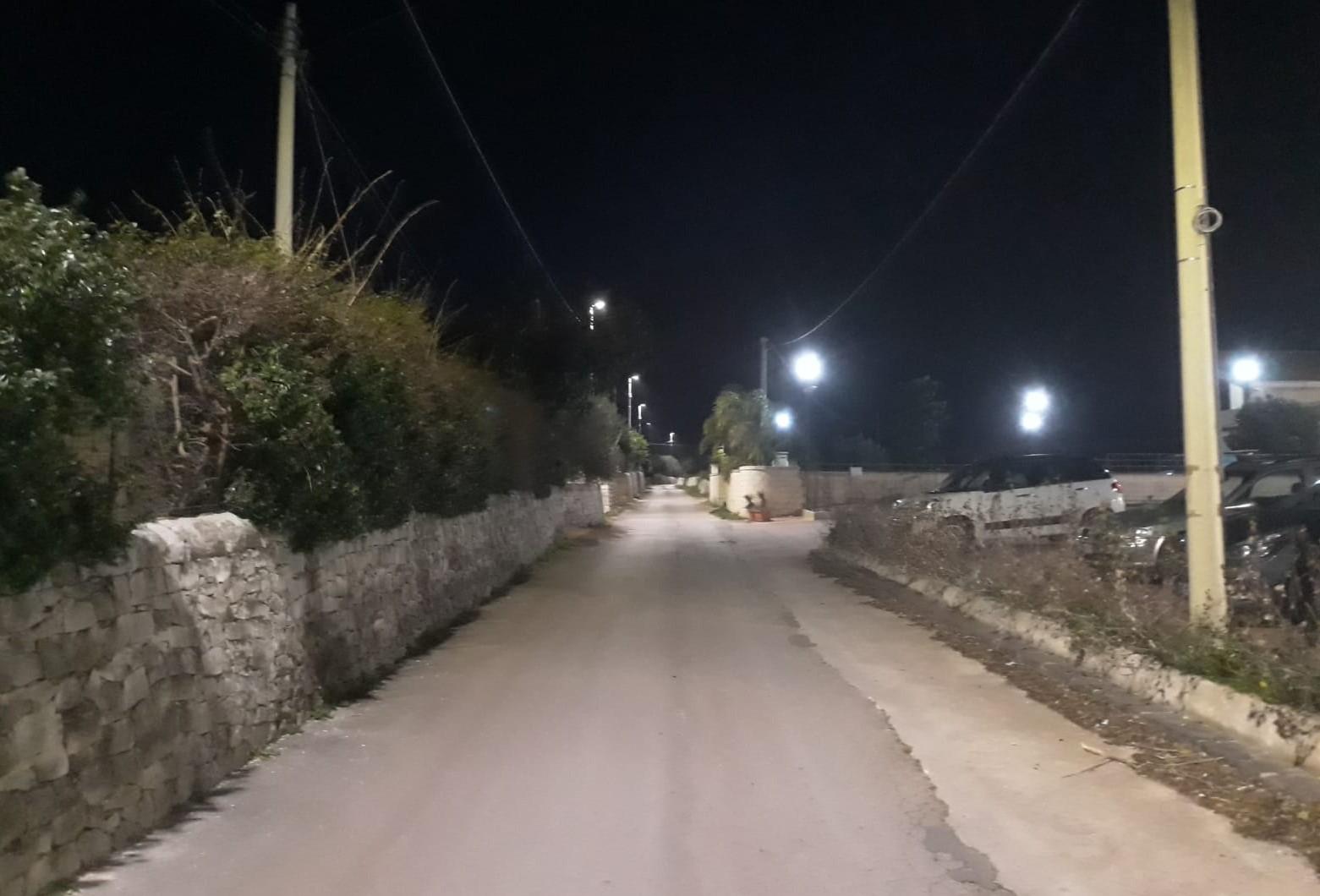 Modica, illuminazione pubblica a led anche a Quartarella, Serrauccelli e Mauto