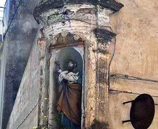 Pachino, restaurata la nicchia della casa di San Giuseppe