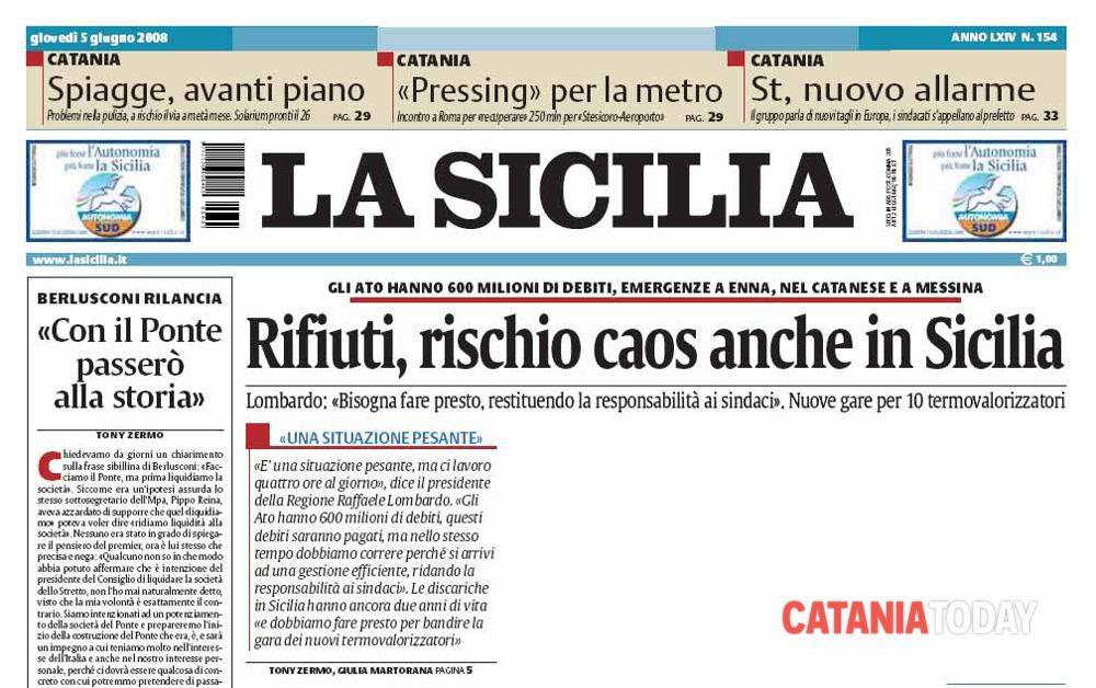 Sequestro a Ciancio a Catania, Libera: stop a monopolio stampa