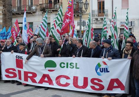 Venerdì sindacati in piazza ad Augusta per difendere la sede dell'Inps